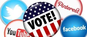 Social media votes in 2012